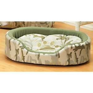 Dog Puppy Pet Cat Camo Camouflage Bed Small