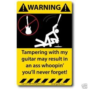 Warning Decal for Electric Acoustic Bass Guitar NEW