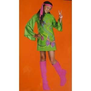 Flower Power Hippy Girl Costume Size M 7 8 Toys & Games