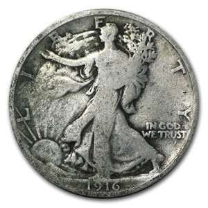 1916 P Walking Liberty Half Dollar (Good) Toys & Games