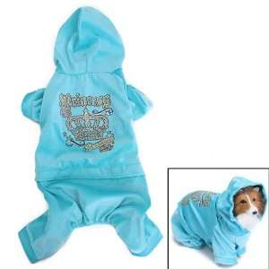 Pet Dog Hoodie Autumn Coat Velour Jumpsuit Clothes Apparel