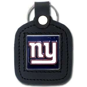 Giants Square Leather Key Chain   NFL Football Fan Shop Sports Team