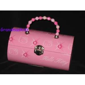 Sanrio Hello Kitty Pink Tin Lunch Box Toys & Games