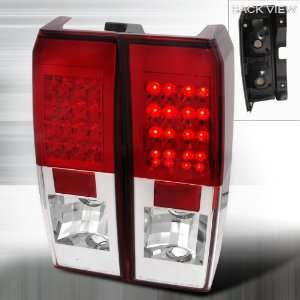 06 07 Hummer H3 LED Altezza Tail Lights   Red Automotive