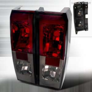 06 07 Hummer H3 Altezza Tail Lights   Red/Smoke
