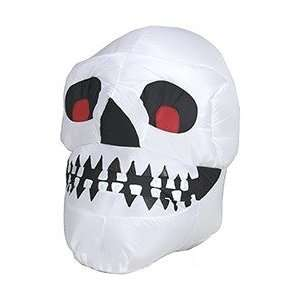 Gemmy Airblown Inflatable 3 Foot Halloween Skull Yard Art
