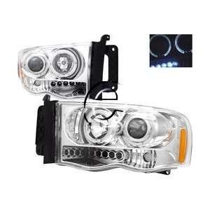 Dodge Ram Headlights Chrome Dual Halo LED Pro Headlights