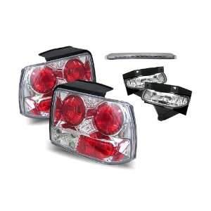 Mustang Chrome Tail Lights + Fog Lights + LED 3rd Brake Lights Combo