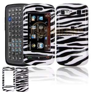 LG Xenon GR500 Cell Phone Black/White Zebra Design Protective Case