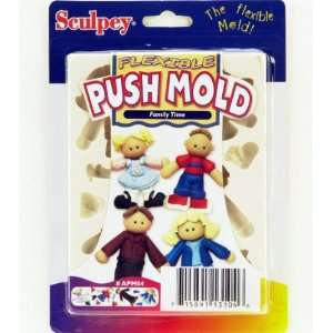 Sculpey EZ Release Push Mold Family Time Arts, Crafts