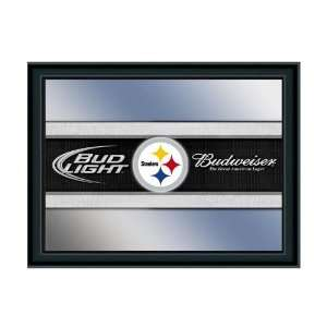Pittsburgh Steelers Budweiser & Bud Light NFL Beer Mirror