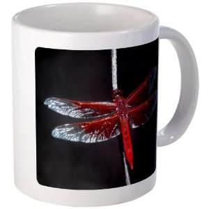 Mug (Coffee Drink Cup) Red Flame Dragonfly Everything