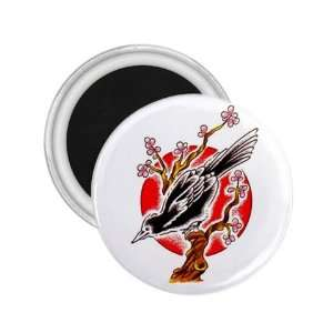 Fridge Round Magnet   Refrigerator Bird Button Magnet
