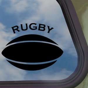 RUGBY BALL Black Decal Truck Bumper Window Vinyl Sticker