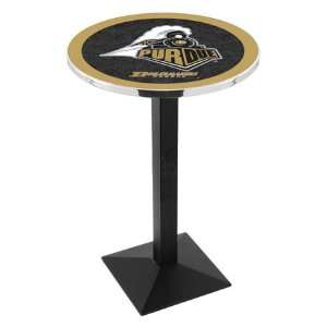 Purdue Counter Height Pub Table   Square Base   NCAA