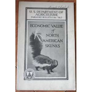 Economic Value of North American Skunks (U.S. Dept. of