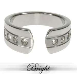 Stainless Steel Ring with Combination of matte and shiny polish and 6