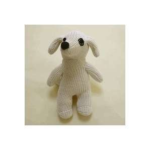 Sckoon Organic Cotton Natural Baby Plush Toy Doll Dog Baby