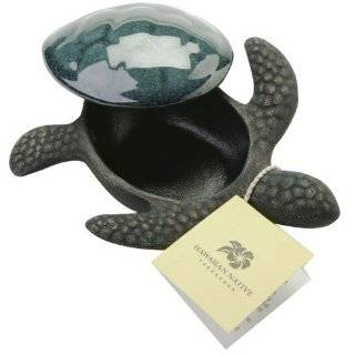 Hawaii Souvenir Keepsake Box Ceramic Turtle 6 in. Jewelry