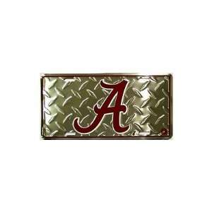 6x12) University of Alabama Diamond Cut NCAA Tin License Plate