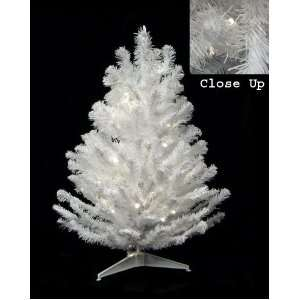 LED White Pine Artificial Christmas Tree Clear Light