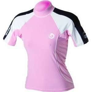 Womens Short Sleeve Dive Rash Guard with UV Protection