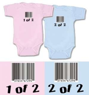 Twin Baby Gift Set for Boy/Girl Twins, Choose from Sizes 0