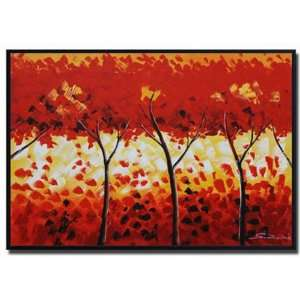Fiery Foliage Hand Painted Canvas Art Oil Painting