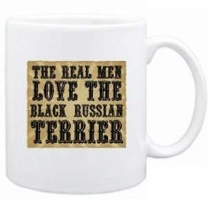 The Real Men Love The Black Russian Terrier  Mug Dog
