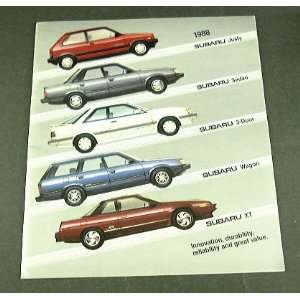 88 SUBARU BROCHURE XT Wagon Sedan Coupe Justy 4wd
