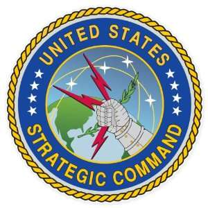 United States Strategic Command car bumper sticker window decal 4 x 4