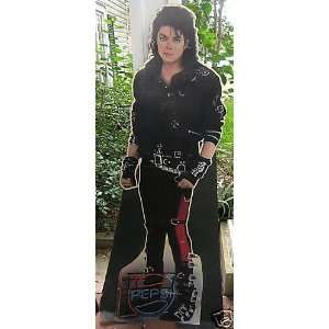 MICHAEL JACKSON 6 FT. CARDBOARD STAND UP