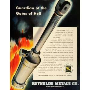 1942 Ad Reynolds Metals WWII Hell Gate Guardian Tools War Production