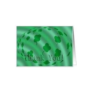Four Leaf Clover   Thank You   Blank Inside Card Health