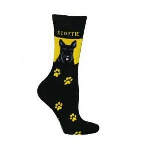Scottish Terrier Novelty Dog Breed Adult Socks