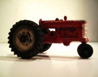 ANTIQUE HUBLEY DIECAST RED TRACTOR TRUCK TOY FIGURE