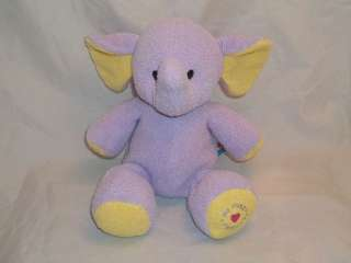 CHAD VALLEY Purple ELEPHANT Plush Baby Toy Rattle