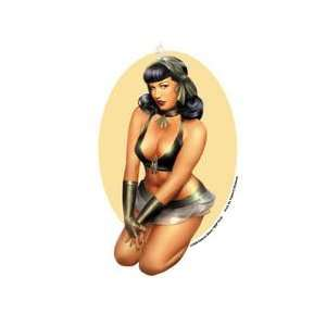 Deacon Sexy Bow Bettie Page Pinup Car Sticker Decal