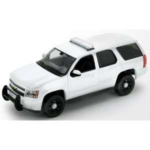 24 2008 Chevy Tahoe Police SUV Blank White WITH CASE Toys & Games