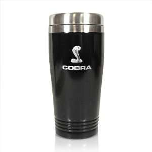 Ford Shelby Cobra Black Stainless Steel Travel Mug