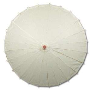 White Paper Umbrella Wedding Party Parasol 32in #13289